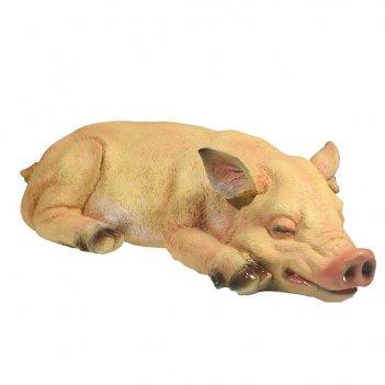 Фигура декоративная свинка сонюша l34.5w15h9
