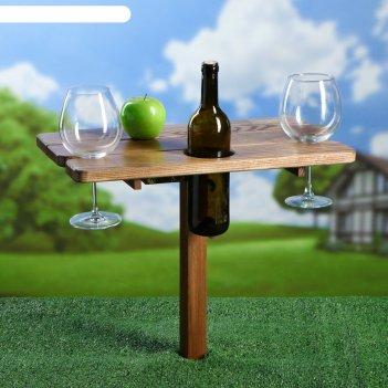Столик для пикника романтик, 50 х 30 см, массив ясеня