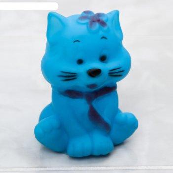 Игрушка для ванны «котик» с пищалкой
