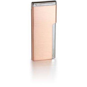 Зажигалка caseti газовая пьезо, хромированное покрытие + красн