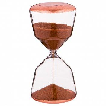 Песочные часы цвет: бронза диаметр=7,4 см ,высота=15,5 см (кор=16 шт.)
