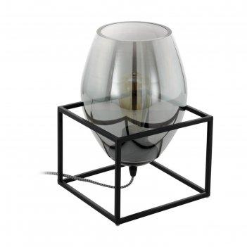 Настольная лампа olival 40вт e27 черный