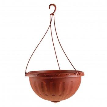 Горшок-кашпо джулия 8 л, подвесной, коричневый