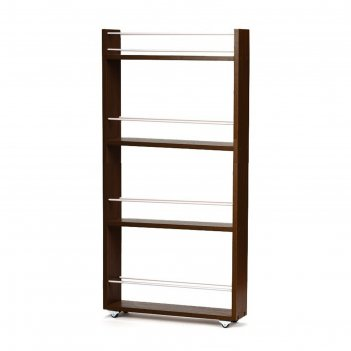 Выдвижная этажерка, для кухни и ванной комнаты 94х52х12 см, 4-х этажная, ц