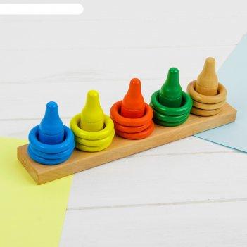 Пирамидка логическая счет и цвет