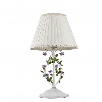 Настольная лампа fiori, 60вт e27, цвет белый