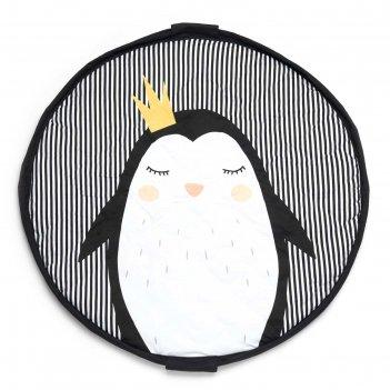 Мягкий игровой коврик и мешок для игрушек 2 в 1 play&go soft «пингвин»