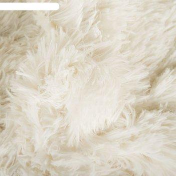 Плед мех шиншилла двухсторонний, 240х220 см, белый