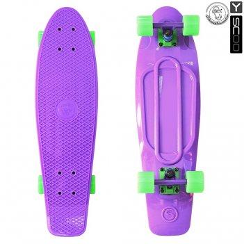 402-pr скейтборд y-scoo big fishskateboard 27″ винил 68,6х19 с сумко