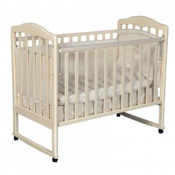 Кроватка детская helen 1, автостенка, цвет слоновая кость