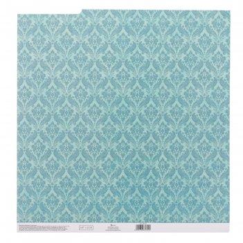 Бумага для скрапбукинга с клеевым слоем «вензеля», 30,5 x 32 см, 250 г/м
