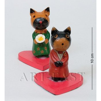 28-012 статуэтки mini кот и кошка свадьба (2 шт.)
