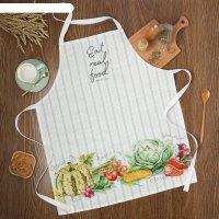 Фартук этель vegetable 70х60 см, 100% хлопок, репс 210 г/м2