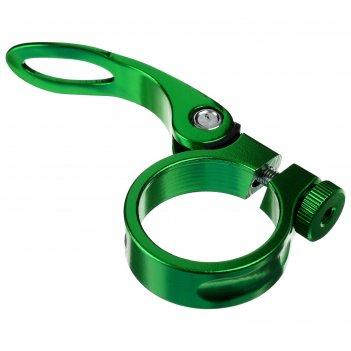Хомут подседельный blf-z1 34,9 мм, с эксцентриком, алюминий, цвет зелёный