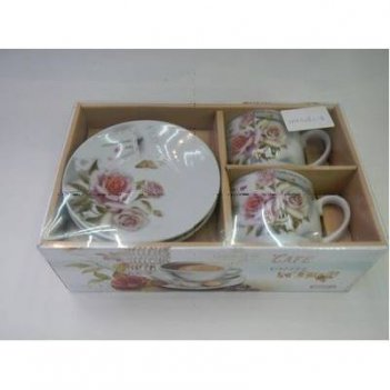 Набор посуды: 2 чашки(250мл), 2 блюдца (сорт 1,2)