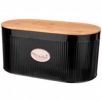 Хлебница 2 в 1 agness черное золото  34*18*15 см без упаковки (кор=4шт.)