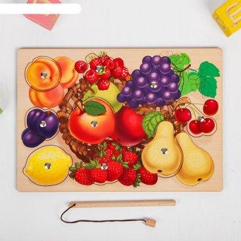 Пазл фруктовая корзинка, (магнитики)