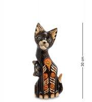 99-261 статуэтка кошка с котенком 30см (албезия, о.бали)