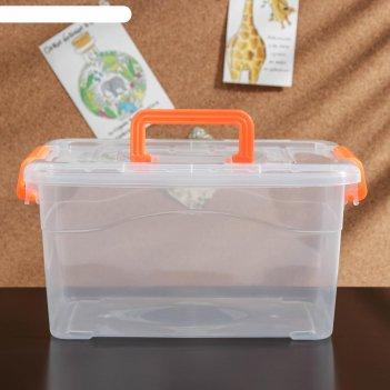Контейнер для хранения, крышка с ручкой на защелке, 29х19х15 см дипломат,