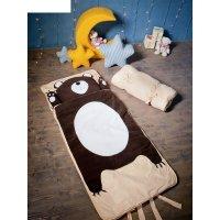 Спальный мешок мишаня на молнии, размер 70х170 см (м), флис/синтепух/хлопо