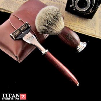 Комплект для бритья mach 3 красное дерево мадагаскар titan 1918