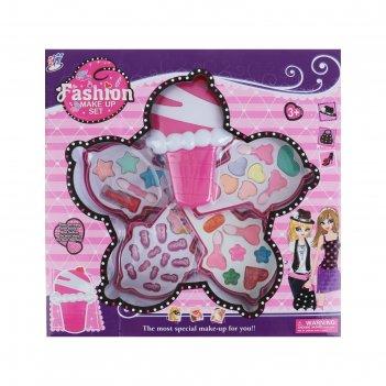 Набор для девочек мороженое (помада, 10 шт теней, 5 аппликаторов, 12 накла