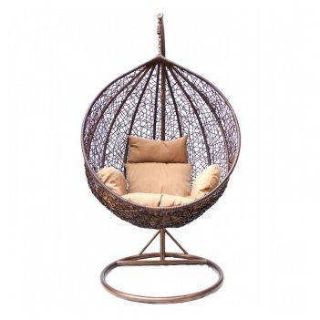 Подвесное кресло на дачу kvimol 0001 dark, садовая мебель
