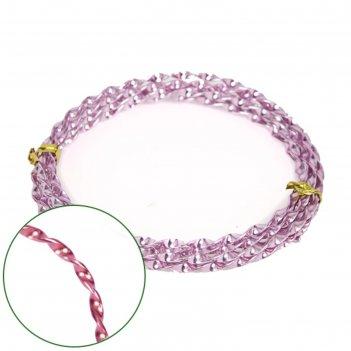 Проволока декоративная «спираль» 2 мм х 2 м, 15 г, светло розовая
