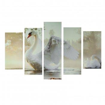 Картина модульная на холсте царевна-лебедь 80*140 см