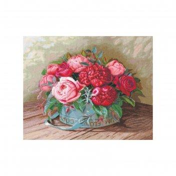 Набор для вышивания пионы и розы