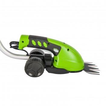 Аккумуляторные садовые ножницы greenworks 1600207, с штангой удлинителем,
