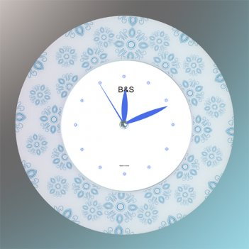 Настенные часы b&s shc-300 gf(bu)