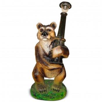 Светильник садовый медведь с фонарем