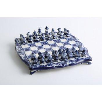 Шахматы малютка авт. гаранин ю.н. гжель 20х20см