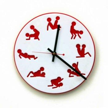 Часы камасутра круглые белые арт. cl193б,  размер 26х26см