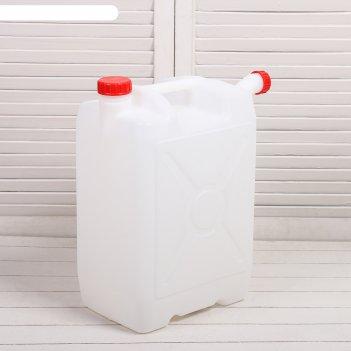 Канистра пищевая «бочонок», 25 л, со сливом, белая