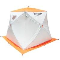 Палатка призма 200 (3-сл) стежка 210/100 с 1 входом,люкс композит, бело-ор