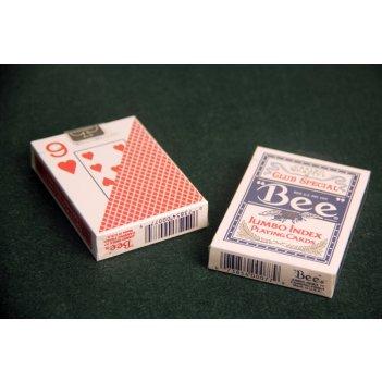 Блок карт bee №92 крупный индекс (6 синих, 6 красных колод)