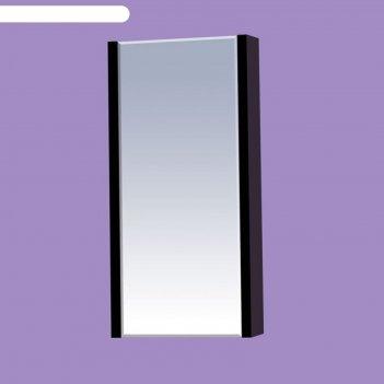 Шкаф-зеркало misty мини-40, чёрное