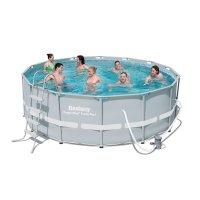 Бассейн каркасный frame pool set, 427 х 107 см, фильтр-насос, лестница, те