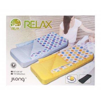 Кровать детская со спальником надувная 157 х 66 х 6 см