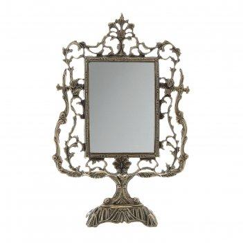 Зеркало настольное на подставке дамасский узор
