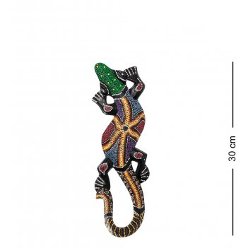 20-238 панно настенное геккон (албезия, о.суматра) 30 см