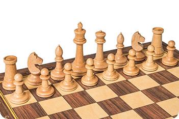 Шахматные фигуры российские №3 утяжеленные, бук