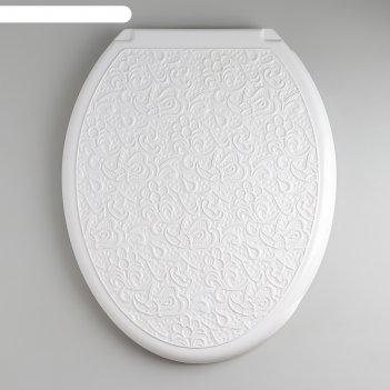 Сиденье с крышкой для унитаза декор. ажур, цвет белый