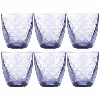 Набор стаканов для виски elisabeth blue smoke из 6 шт. 300 мл. высота=9,5
