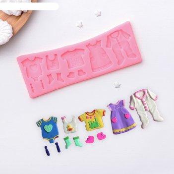 Молд 17х6,3х0,7 см одежда для ребеночка, розовый