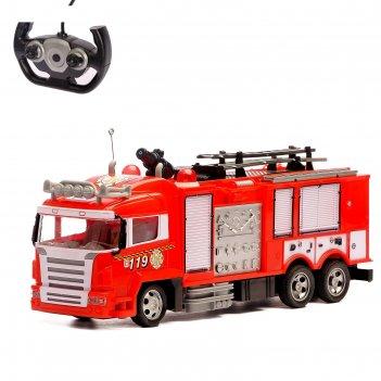 Машина радиоуправляемая «пожарная охрана», стреляет водой, световые эффект