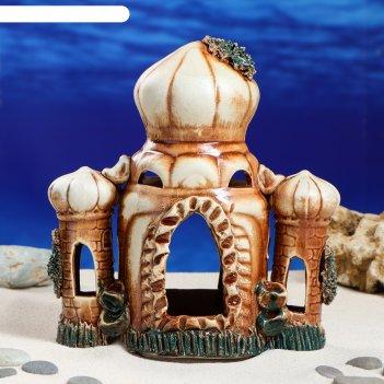 Декорации для аквариума восточный замок микс