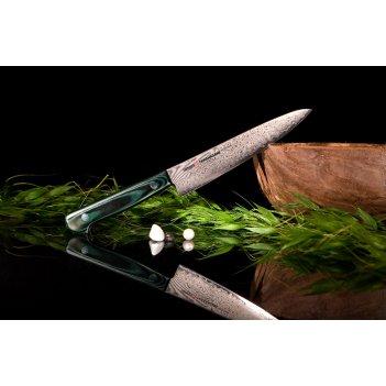 Нож кухонный универсальный японский  samura tamahagane лезвие 150 мм